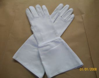 White Deerskin Gauntlet Gloves - Made in the USA