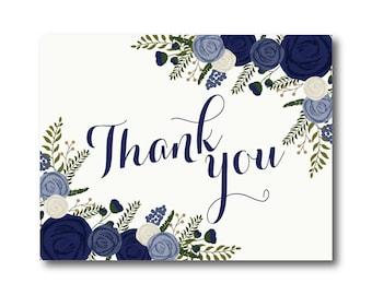 Vintage Wedding Thank You Card, Fall Wedding, Vintage Floral, Floral Wedding, Vintage Wedding, Wedding Thanks, Wedding Thank You Card #CL249