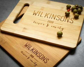 Personalized Cutting Board, Custom Cutting Board, Custom Engraved Cheese Board: Personalized Wedding, Anniversary or Housewarming Gift