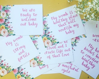 Fearless Fertility Affirmation Cards (without box)