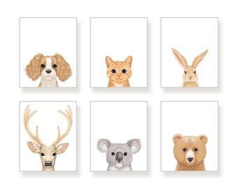 NURSERY animals PRINTS, Baby Room art, Woodland ANIMALS decor, Baby animals, Nursery art, Nursery decor, Minimalist nursery, Modern nursery