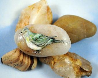 Dove Totem Stone- Original Artwork, Spirit Animal Gift, Magic Pocket Stone, Dove Gift, Bird Lover Gift, FREE SHIPPING