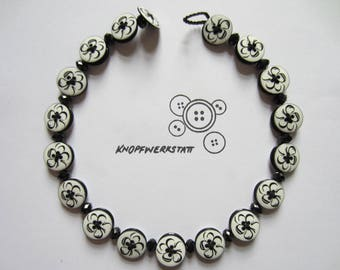 Chain, button chain, necklace with beads and buttons, buttons, statement chain, necklace, chain,