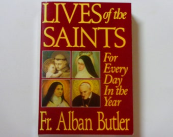 Lives of the Saints - Fr. Alban Butler - Tan Books 1995 - Vintage Softcover Book - Catholic Book - Religious Book -
