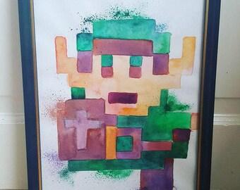 Pixel Link Portrait - Legend of Zelda