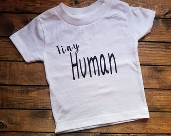 Funny Tiny Human Children's Shirt Great Gift