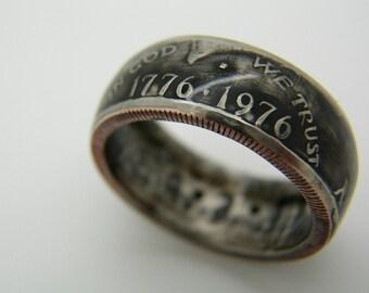 Bicentennial Kennedy Coin Ring