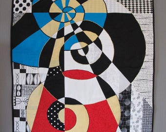 """Geometric patchwork named """"seedy"""" primary colors"""