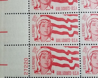 Girl Scouts 50 4 Four Cent United States Postage Mint Sheet Stamps 1962