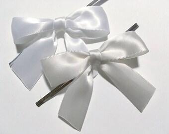 12 ou blanc cassé blanc Bow pré-faites embellissements