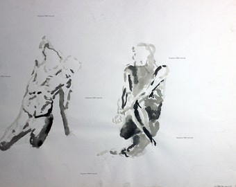 sum ink figure drawing No. 3