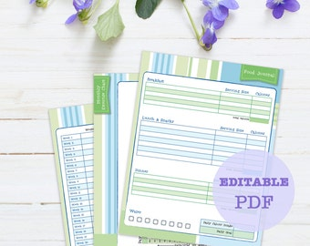 Beginner Weight Loss Journal, 3 page, printable