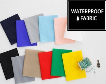 Waterproof Fabric - 11 Vivid Solid Colours, 150cm Width, by Yard