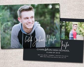 Graduation Announcement, LDS Missionary Farewell, Graduation Invitation, Photo, Missionary/Graduation: PRINTABLE (Jackson farewell invite)
