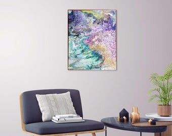 16 x 20, fluid acrylic,  one of a kind,  original art - purple