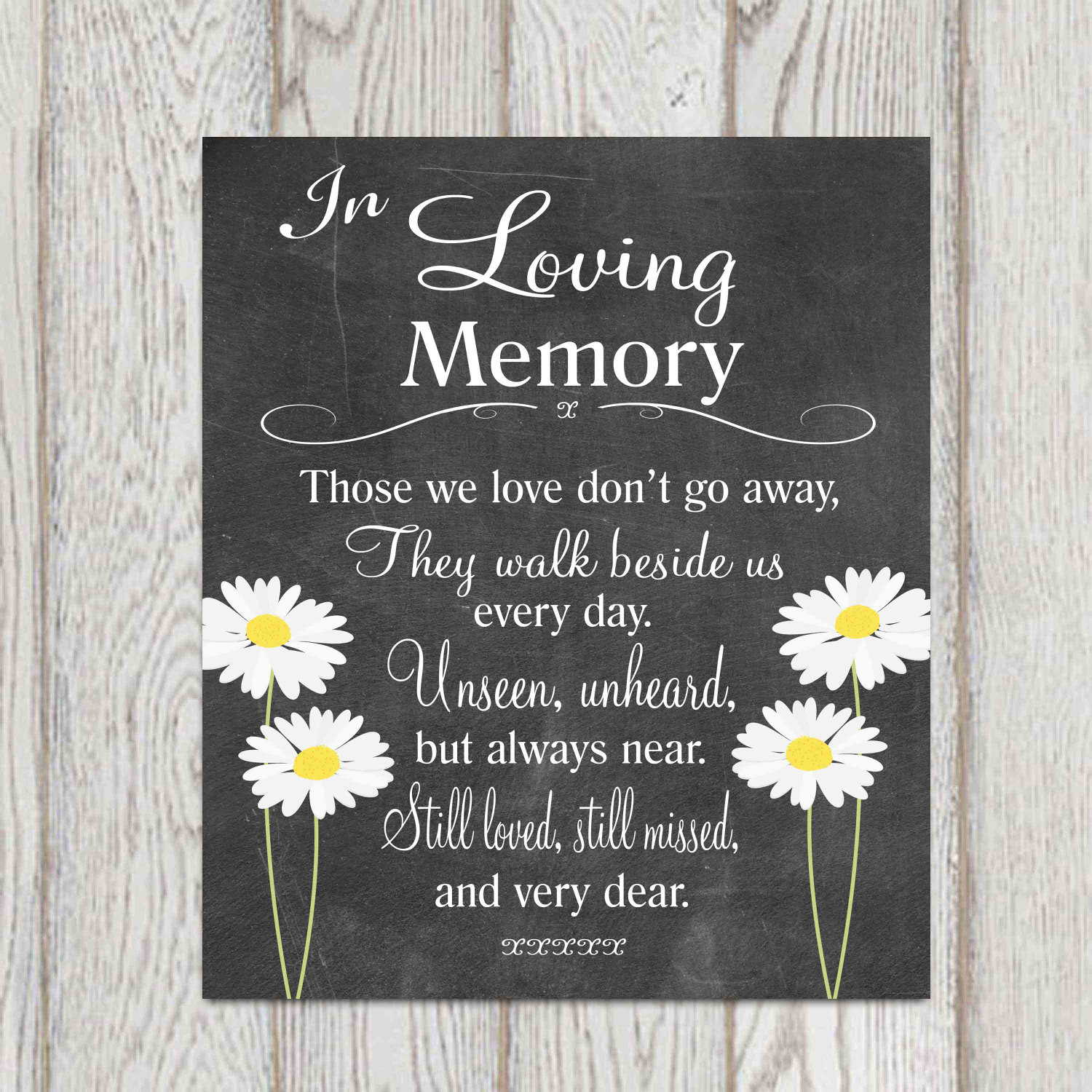 In Loving Memory Quotes Memorial Table In Loving Memory Printable Wedding Memorial