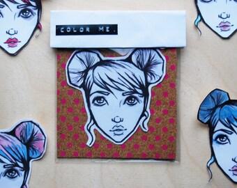 Customize Me Girl Sticker