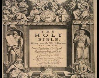 King James Bible 1611 - First Edition - BONUS Gutenberg Bible 1462 - Rare eBooks