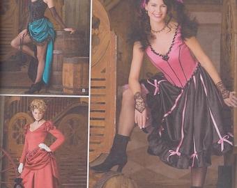 Simplicity 2851 Misses Victorian Burlesque Steampunk Costume Bustle Dress UNCUT Sewing Pattern