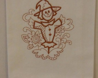 Embroidered Scarecrow Towel