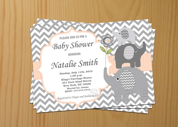 Editable baby shower invitation elephant baby shower editable baby shower invitation elephant baby shower invitation neutral baby shower invites peach 37a free thank you card instant download filmwisefo