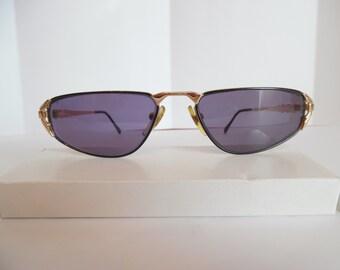 Vintade Womens Eyeglasses Designer Gold Eyewear Made in Italy