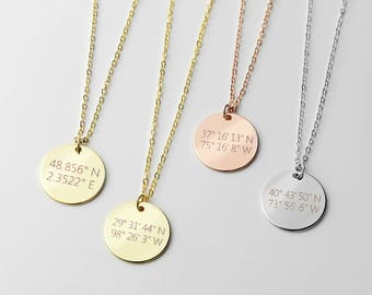 Inspirational Coordinate Necklace Monogram Necklace Gift For Women College Graduation Gift - LCN-2I