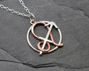 Leo sagittarius combined zodiac necklace sterling silver