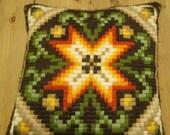 Embroidered Pillow, Scandinavian Handcraft
