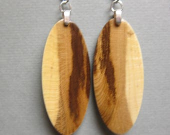 Golden Chain Tree Exotic Wood Earrings handcrafted ExoticwoodJewelryAnd Hypo allergenic ear wires