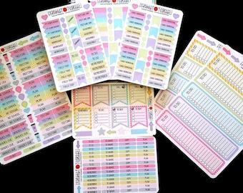 Teacher Bundle, 334 Stickers, Fits Erin Condren®, Plum Planner, Lilly Pulitzer and others, Kiss Cut, Calendar Stickers, Journaling