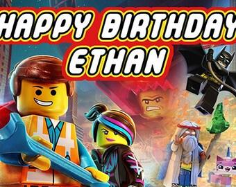 Lego Movie Birthday Banner - Mason