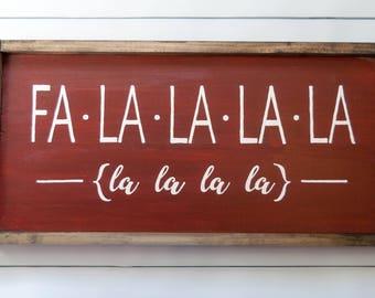READY TO SHIP--Falalalala Christmas Sign | Wood Sign