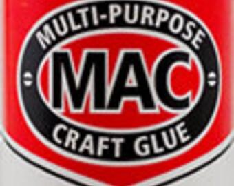Mac Glue, Adhesive, Best Glue for Glass on Glass Application, Multi Purpose Glue, Mosaic Glue 4 oz.