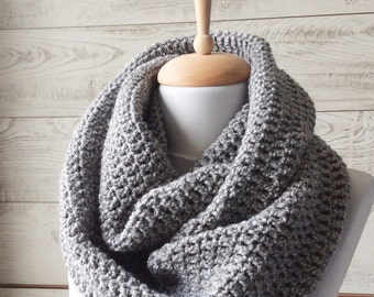 Scarf, infinity scarf, mens scarf, black scarf, cowl,  Knit Scarf , man scarf, women scarf, Many Colors