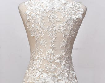 Lace Wedding Dress applique/Lace Applique/Lace Dress/Boho Wedding Dress/Prom Dress/Vintage Dress/Evening Dress/Bridal Applique/ALA-66