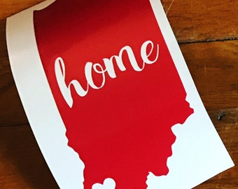Indiana home vinyl decal