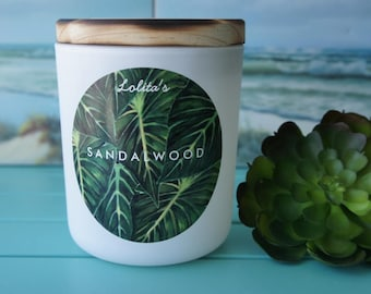SANDALWOOD/handpoured Scented Soy Candle