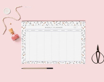 Weekly planner printable | Desk Planner | Weekly Planner | Pdf Weekly planner A4 and letter size | Instant download.