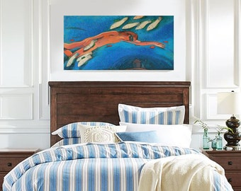 """Sale 20% off FREE SHIP Beach Decor Original Oil Painting """"Nothing but dream"""" by B. Kravchenko"""