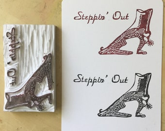 Custom logo stamp, custom rubber stamp, handmade logo stamp, custom shop stamp, hand carved logo stamp, shop name stamp, custom made
