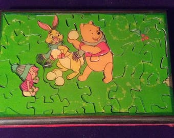 A wintry Winnie the Pooh puzzle