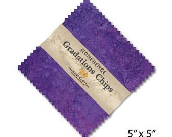 Northcott Gradation Chips 5 x 5 charm pack - Amethyst