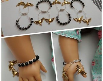 Winged Key Beaded Bracelet