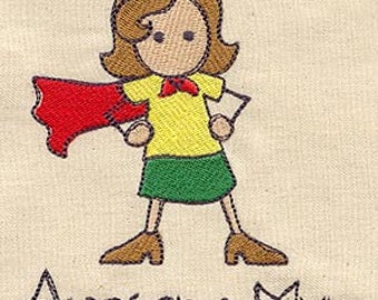 Awesome Mum Embroidered Flour Sack Hand/Dish Towel