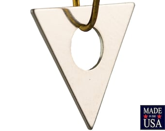 Center Cutout Silver Plated Flat Triangle Charms Drops 17mm (6) mtl479P