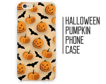 Halloween Pumpkin Bats Autumn Phone Case for iPhone X 8 Plus 7 6 6s 5 5s 5c SE + Samsung S6 S7 S8+