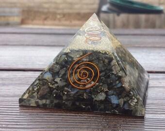 Extra Large (70-75mm) RHYOLITE Orgone Gemstone Pyramid X-Large Pyramid Orgone