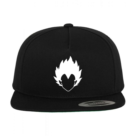 ced7e401a30 VEGETA Black Snapback Hat Multi-Color Vinyl Design