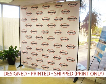 Step and repeat backdrop banner 8x8' PRINT ONLY - Wedding Step and Repeat - Custom Backdrop - Banner Stand - Photo Booth Backdrop